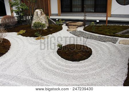The Japanese Zen Garden At