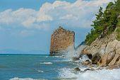 Sail Rock At Coast Black Sea