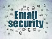 Security Concept: Painted Blue Text Email Security On Digital Data Paper Background With  Hand Drawn poster