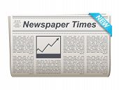 Folded Newspaper Vector Icon With Type And Picture Mockup And Various Headings News, The News, Busin poster