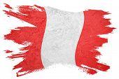 Grunge Peru Flag. Peru Flag With Grunge Texture. poster