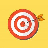 Abstract Target Icon. Vector Target Icon. Image Target Icon. Color Target Icon. Flat Target Icon. Ta poster