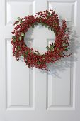 pic of christmas wreath  - christmas holly wreath - JPG