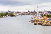 View On Tivoli Grona Lund And Beckholmen Island Stockholm