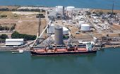 Aerial View Of Industry And Shipping On Kooragang Island - Newcastle Australia. This Industrial Area poster