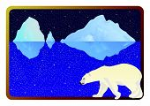 pic of polar bears  - The inhabitants of the Arctic into the background frame to the ocean - JPG