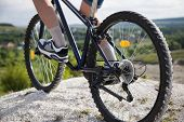 Mountain bike.Sport and healthy life.Extreme sports.Mountain bicycle and man.Life style outdoor extr poster