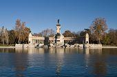 Retiro Park Madrid Near Sunset