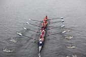 Yale University races in the Head of Charles Regatta