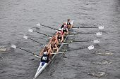 Brock Rowing races in the Head of Charles Regatta