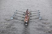 Riverside Boat Club races in the Head of Charles Regatta
