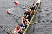 Skaid Rowing of Rotterdam races in the Head of Charles Regatta