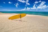 Sunset Beach, North Shore, Oahu, Hawaii. Sunset Beach Is Home To The Prestigious Surfing In The Worl poster