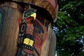 Totem Pole Detail Duncan, British Columbia, Canada