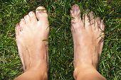 Barefoot on grass