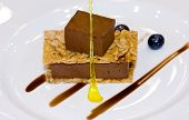 Malaysia  Kuala Lumpur: Culinaire 2007 : Brownie Mousse With Florentine Sable poster