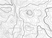 Abstract Topographical Map With No Names