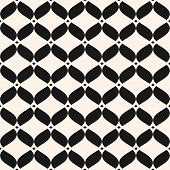 Ornamental Mesh Seamless Pattern. Abstract Graphic Black And White Background With Wavy Shapes, Deli poster