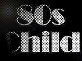 Psychedelic 80S Child Monochrome Led Light Text