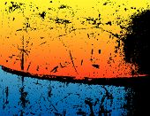 Grunge Background With Blue And Orange