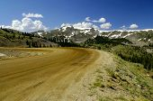 pic of colorado high country  - Gravel road over Cottonwood Pass in the high country - JPG