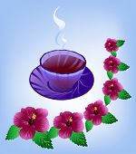 Tea From The Hibiscus Flowers