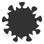 Raster Mers Virus Flat Icon. Raster Pictogram Style Is A Flat Symbol Mers Virus Icon On A White Back poster