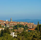 Medieval Town In Montalcino Area, Tuscany, Italy poster