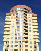 stock photo of vinnitsa  - A modern apartments building viewed from an vinnitsa - JPG