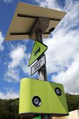 Electric and hybrid cars top up zone