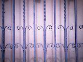 Purple Wrought Iron Fence