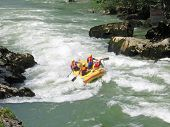 picture of luka  - European rafting championship R6 on the rapids of river Vrbas near Banja Luka Republika Srpska Bosnia and Herzegovina - JPG