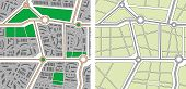 Auflistung der nahtlose Muster Stadtplan. gerasterte Version des Vektor-illustration