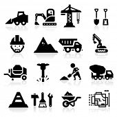 stock photo of dozer  - Construction Icons - JPG
