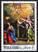 Postage stamp Ras al-Khaimah 1970 The Annunciation by Philippe d