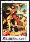 Postage stamp Ras al-Khaimah 1970 The Sacrifice of Abraham by An