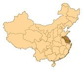 Map Of China, Jiangsu Highlighted