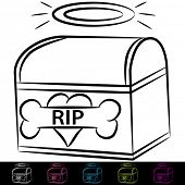 An image of a dog cremation box.