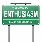 Enthusiasm Concept.