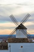 Old Spanish Windmill At Sunset
