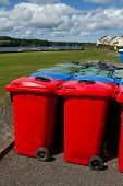 Multi-coloured Bins.
