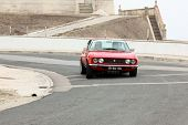 Foz Do Arelho, Portugal - May 13: Luis Santos Drives A Fiat Dino Coupe During Rally Sprint Foz Do Ar