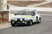 Foz Do Arelho, Portugal - May 13: Rui Machado Drives A Renault 5 Turbo During Rally Sprint Foz Do Ar