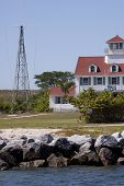 PEANUT ISLAND, FL - APR 1: The historic former Coast Guard Station on April 1, 2011 on Peanut Island