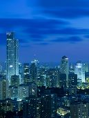 Tel Aviv and Ramat Gan Skyline at night