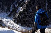 Mountain Tourist On Breakaway poster