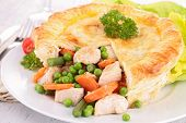 image of stew pot  - chicken pot pie - JPG