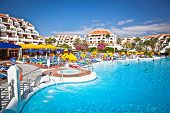 TENERIFE, SPAIN-SEPTEMBER 20:Resort  in Costa Adeje on September 20, 2011. Tenerife,Spain. More than 5 million tourists from UK visit Tenerife every year.