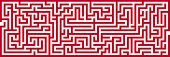 Simple Panoramic Maze Pattern Isolated on White Background