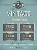 Vintage retro page template for a variety of purposes: website home page, old style flyers, book cov